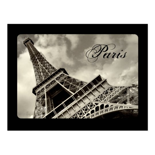 Vintage Paris - Eiffel Tower postcard