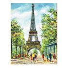 Vintage Paris, Eiffel Tower Postcard