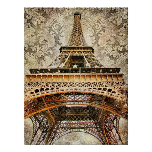 Vintage Paris, Eiffel Tower Poster