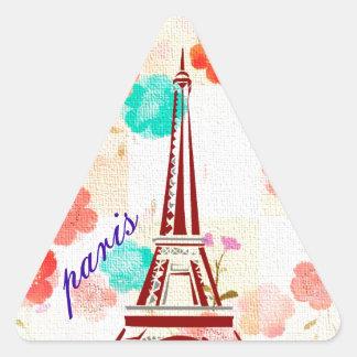 Vintage Paris - Eiffel Tower Triangle Sticker