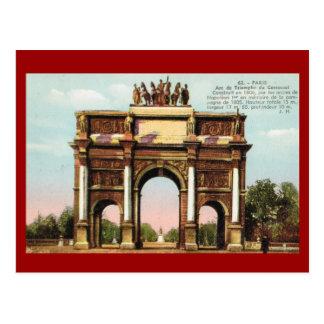 Vintage Paris, Etoile, Arc de Triumphe Postcard