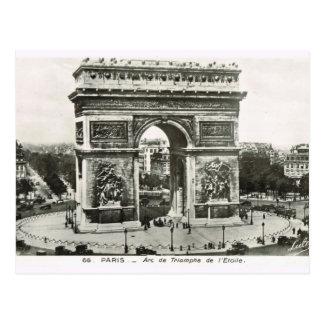 Vintage París, Etoile, Arc de Triumphe Tarjetas Postales