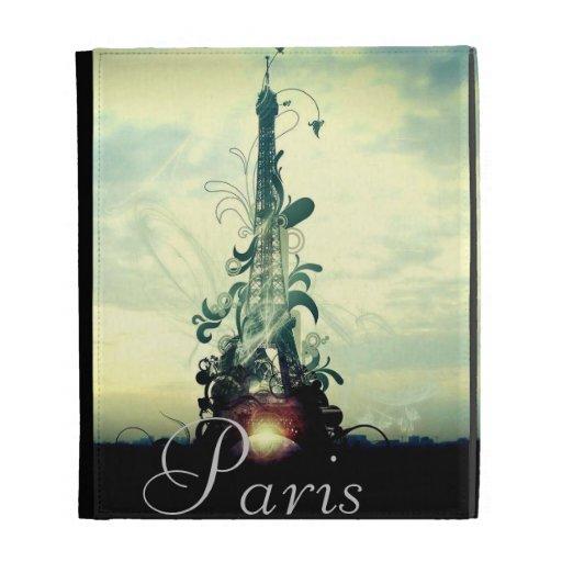 Vintage Paris Fantasy iPad Folio Covers