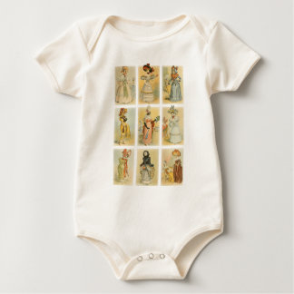 Vintage Paris Fashion (18th and 19th century) Baby Bodysuit