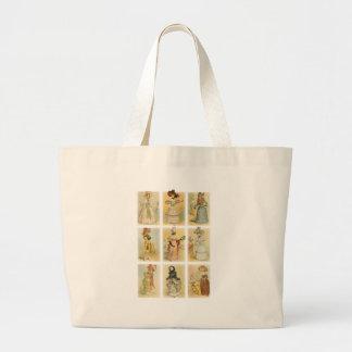 Vintage Paris Fashion (18th and 19th century) Tote Bags