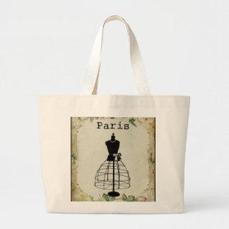 Vintage Paris Fashion Dress Form Jumbo Tote Bag