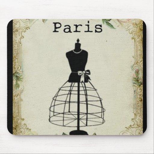 Vintage Paris Fashion Dress Form Mousepad