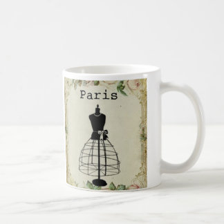 Vintage Paris Fashion Dress Form Mugs