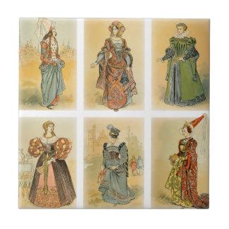 Vintage Paris Fashion - Medieval Ceramic Tile