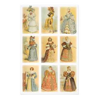 Vintage Paris Fashion (middle ages to 19th century Stationery