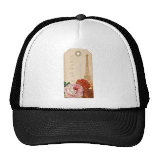 Vintage Paris Floral Package Tag Trucker Hat