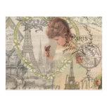 Vintage Paris France Collage Post Cards