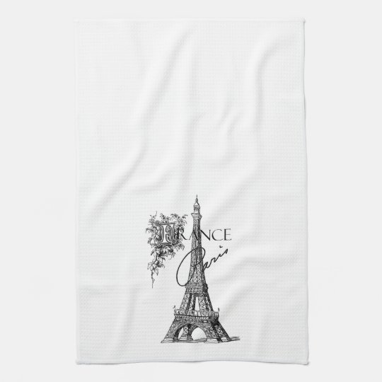 Tea Towels Myer: Vintage Paris France Eiffel Tower Tea Towel