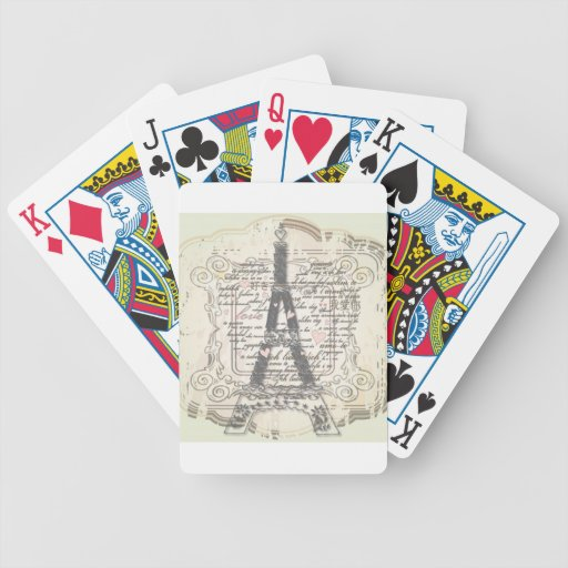 Vintage Paris France Gifts Bicycle Playing Cards