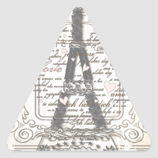 Vintage Paris France Gifts Triangle Sticker