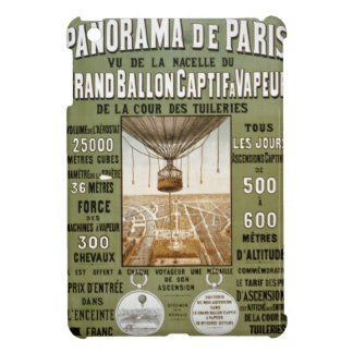 Vintage Paris France Hot Air Balloon Ad Poster iPad Mini Covers