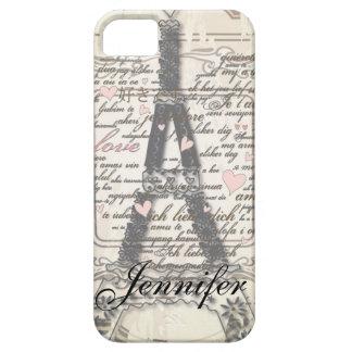 Vintage Paris France I Phone Cases iPhone 5 Case