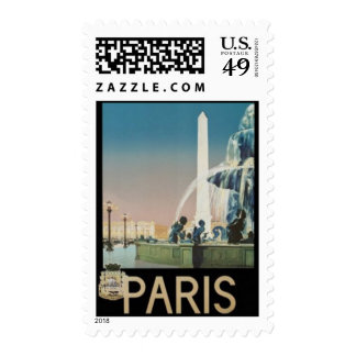 Vintage Paris, France - Stamps