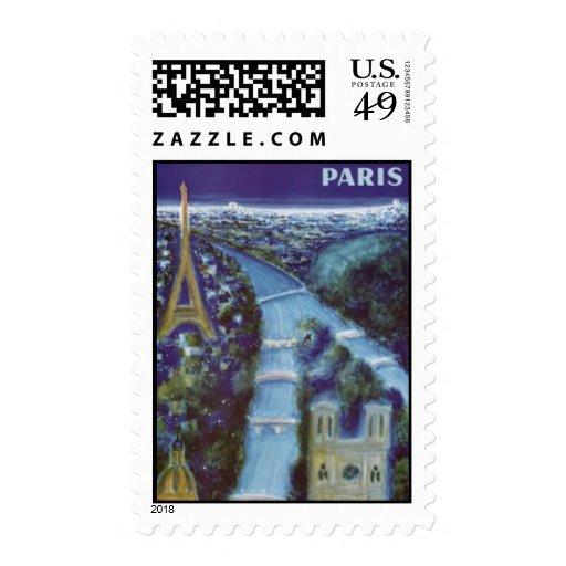 Vintage Paris, France - Postage Stamp