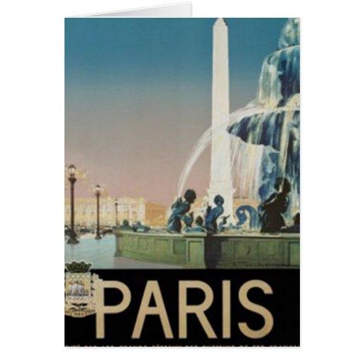 Vintage París, Francia - Tarjeta De Felicitación
