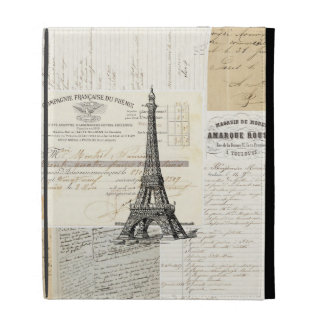 Vintage Paris French Ephemera iPad Folio Case