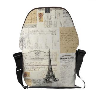 Vintage Paris French Ephemera Messenger Bag