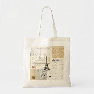 Vintage Paris French Ephemera Tote Bag