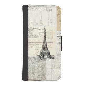 Vintage Paris French Ephemera Wallet Case