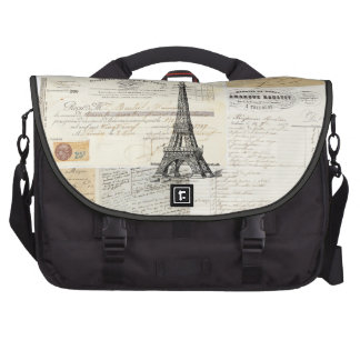 Vintage Paris French Laptop Bag