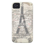 Vintage Paris French Love Gifts Case-Mate iPhone 4 Case