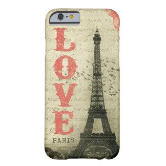Vintage París Funda Para iPhone 6 Barely There
