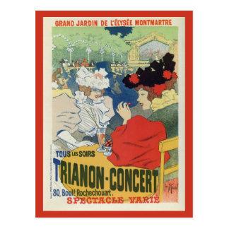 Vintage Paris garden Trianon concert ad Postcards