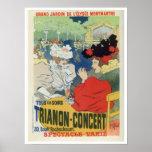 Vintage Paris garden Trianon concert ad Posters