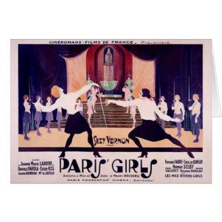 Vintage Paris Girls Fencing Note Card