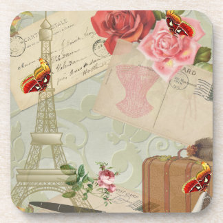 Vintage Paris Graphics Beverage Coaster