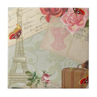 Vintage Paris Graphics Ceramic Tile