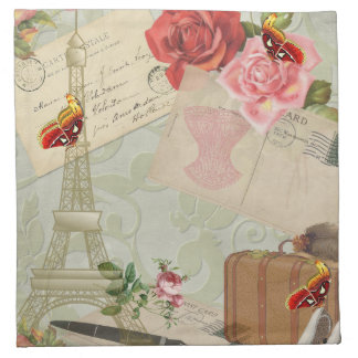 Vintage Paris Graphics Napkin