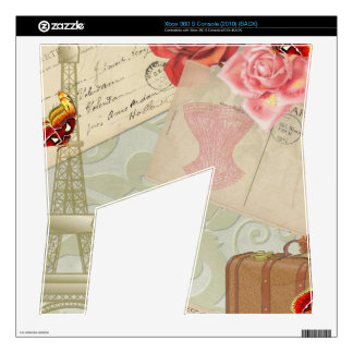 Vintage Paris Graphics Skin For The Xbox 360 S