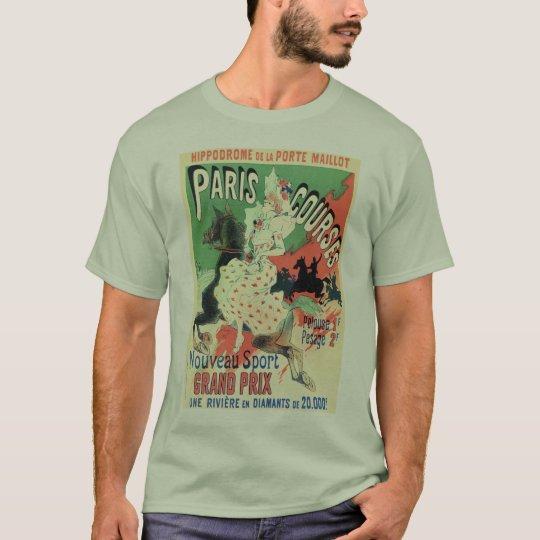 Vintage Paris horse races ad T-Shirt