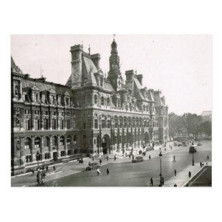 Vintage París, Hotel de Ville Tarjetas Postales