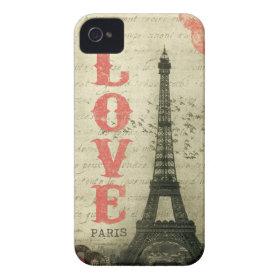 Vintage Paris iPhone 4 Case-Mate Cases