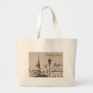 Vintage Paris Large Tote Bag