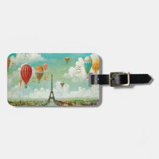 Vintage Paris Luggage Tags