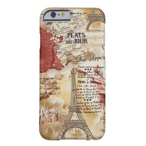 Vintage Paris Map IPHONE 6 CASE
