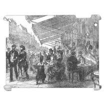Vintage Paris Montmartre Cafe iPad Case at Zazzle