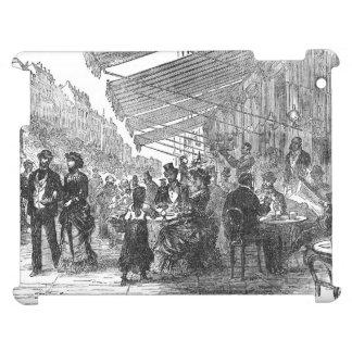 Vintage Paris Montmartre Cafe iPad Case