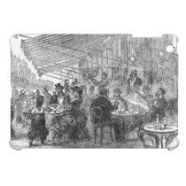 Vintage Paris Montmartre Cafe iPad Mini Case at Zazzle