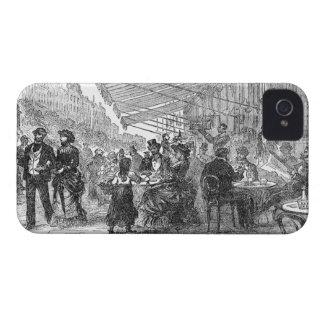 Vintage Paris Montmartre Cafe iPhone 4/4S Case iPhone 4 Case-Mate Cases