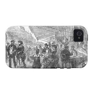Vintage Paris Montmartre Cafe iPhone 4/4S Tough iPhone 4 Cover