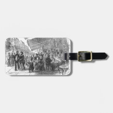 Vintage Paris Montmartre Cafe Luggage Tag at Zazzle